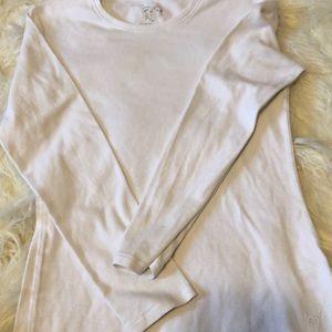 One basic White long sleeve shirt size 12